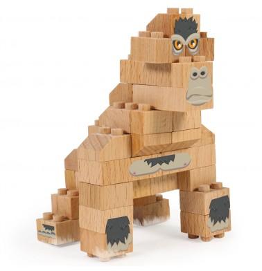 WWF Wood Brick Collectible Figures - Gorilla
